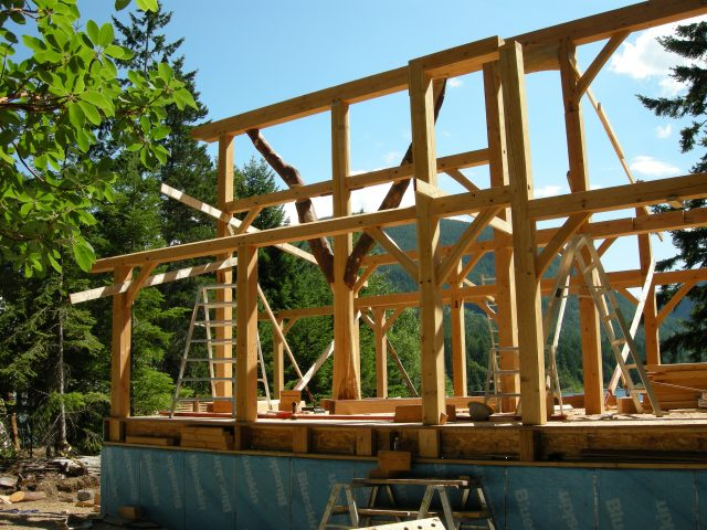 Full timberframe home