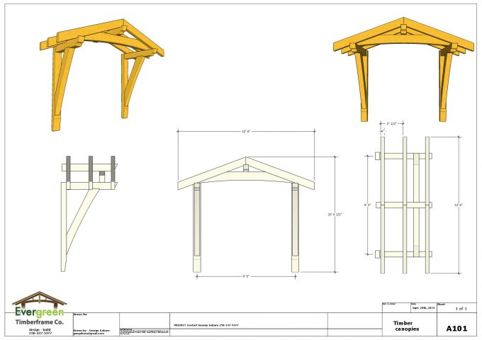 Elegant timber frame canopy